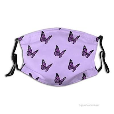 Purple Pastel Daisies Face Mask Reusable Breathable Protective Adjustable Scarf Washable Fashion Dustproof Bandana