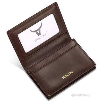 Leather Business Card Case Holder for Men & Women  Italian Calfskin