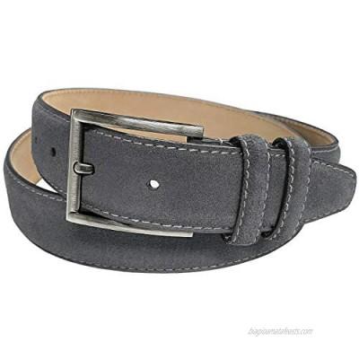 "Men's Belt Suede Full Leather Belt Casual Dress Leather Belt 1-3/8""(35mm) Wide"