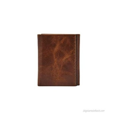 Fossil Men's Leather Trifold Wallet