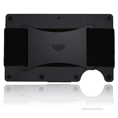 Slim Minimalist Aluminum Wallet for Men/Credit Card Holder for Men with Cash Strap