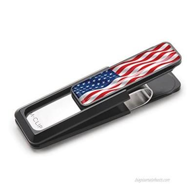 M-CLIP USA American Flag Stars & Stripes Money Clip  Cash and Credit Card Holder  Metal Wallet Alternative