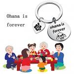 AKTAP Ohana Keychain Ohana is Forever Hibiscus Flower Charm Gift Ohana Jewelry