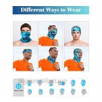8 Pieces Summer UV Protection Neck Gaiter Scarf Balaclava Cooling Breathable Face Scarf