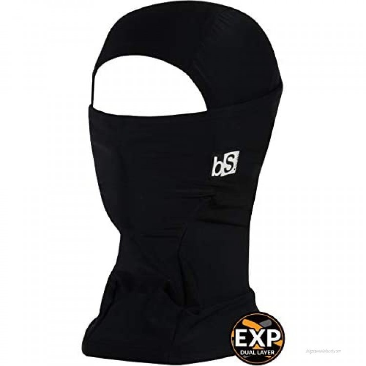 BLACKSTRAP Expedition Hood Balaclava Face Mask Dual Layer Cold Weather Headwear for Men and Women for Extra Warmth Black