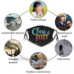 Class of 2021 Face Mask with 2 Pcs Filters Graduation Gift Mask Reusable Washable Balaclavas for Women Man Youth