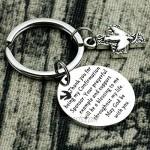 Kivosliviz Confirmation Sponsor Gifts Keychain Sponser Gift Appreciation Key Chain Thank You for Being My Confirmation Sponsors Keychain