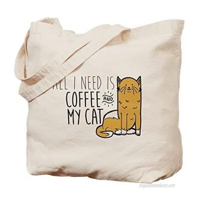 CafePress Natural Canvas Tote Bag  Reusable Shopping Bag  My Cat