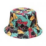 Fashion Unisex Embroidered Beach Sun Travel Bucket Hat Summer Beach Sun Fisherman Cap