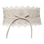 Lovful Womens Lace Obi Belt Faux Leather Wrap Self Tie Waist Belt Cinch Boho Dress Belt