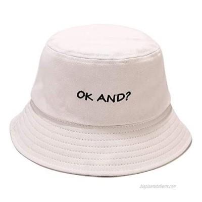 Umeepar Unisex OK and? Bucket Hat Packable Beach Sun Hat Fisherman Hat Outdoor Cap for Womens Men