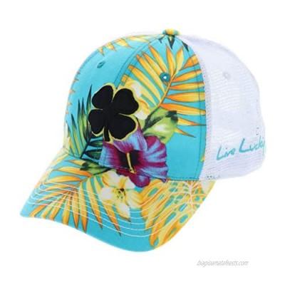 Black Clover Island Luck H Black/Yellow/Tropical/White Mesh - Adjustable