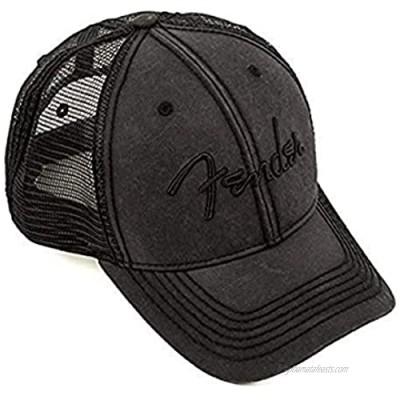 Fender Blackout Trucker Hat  Black  Onesize