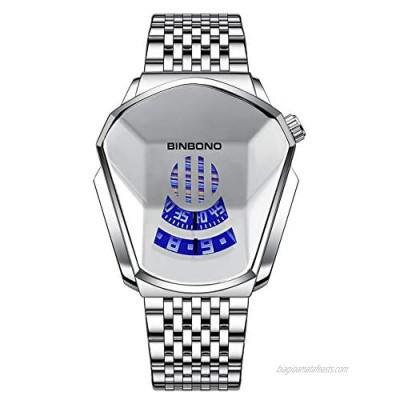 Casual Watches for Men Fashion Steel Band Hot Diamond Style Waterproof Quartz Watch for Men Women
