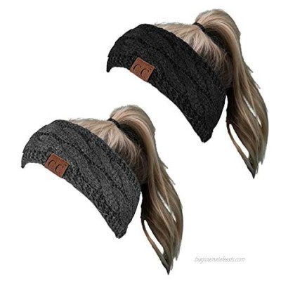 HW-6033-2-20a-0670 Headwrap Bundle - Solid Black & Solid Charcoal (2 Pack)
