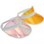 Outdoor Unisex Clear Visor Hat UV Protection Transparent Colorful Visor Sun Cap for Beach