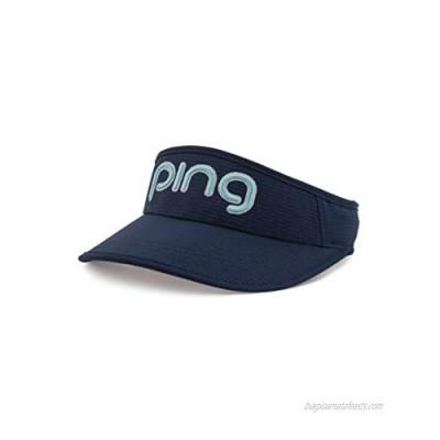 PING Ladies Aero Adjustable Golf Visor Navy/Teal