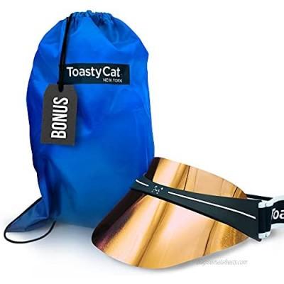 Toasty Cat Sport Visor with Shield - Visors for Women and Men - Sunburst Orange