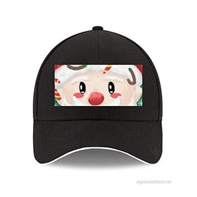 Jovno Christmas Blessing from Santa Unisex Fashion White Edge Curved Edge Baseball Cap Reinforced Cap Top Fashion Hat Shape Long Lasting Profile Wearable Style 3221313