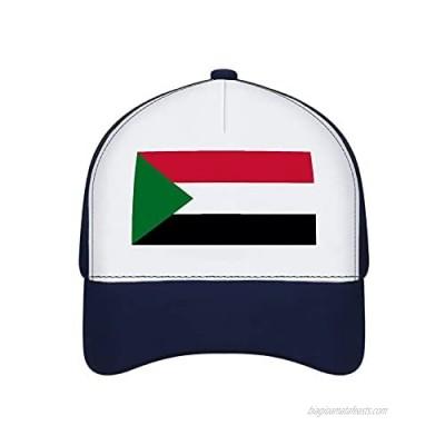 Jovno Cowboy Sun Hats Sudan Flag Outdoor Shapeable Fashion Panama Sun Fisherman Hat
