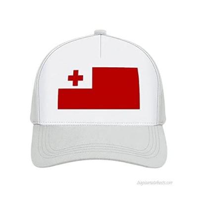 Jovno Cowboy Sun Hats Tonga Flag Outdoor Shapeable Fashion Panama Sun Fisherman Hat