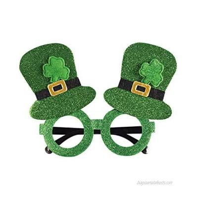 St. Patrick'S Day Green Irish Adult'S Day Fun Shamrock Green Hat Glasses