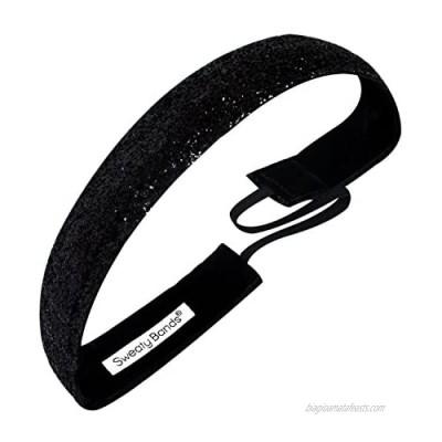 Sweaty Bands 001-10-0049-12 Viva Diva 1-inch Velvet Lined Fitness and Fashion Headband Black