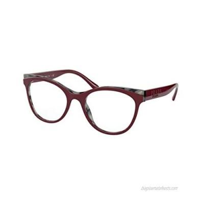 Eyeglasses Prada PR 5 WV 07H1O1 Bordeaux Grey
