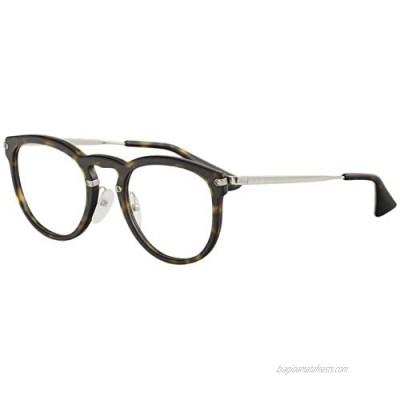 Prada Eyeglasses VPR02V VPR/02/V 2AU/1O1 Havana Full Rim Optical Frame 51mm