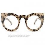 Zeelool Vintage Oversized Thick Cat Eye Blue Light Blocking Glasses for Women Ophelia VFP0290