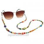 Colorful Bead Women's eyeglass chain eyewear retainer Mask Holder Reading glass Necklace Lanyard
