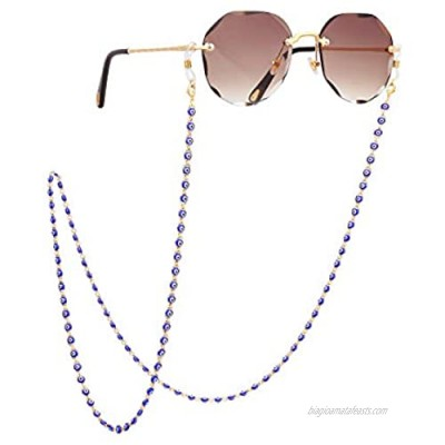 PEARLADA 18K Gold Plated Eyeglass Chain for Women Sunglasses Strap Holder Reading Glasses Retainer Handmade Around Neck Jewelry Gift for Christmas Fashion Gold Beaded Chain String Cord Lanyard