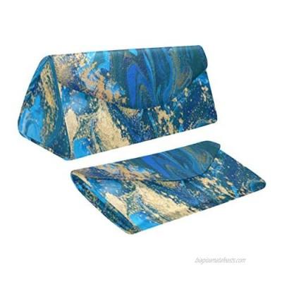 InterestPrint Marble Stone Foldable Eyeglass Case Triangular Sunglasses Case Hard Shell