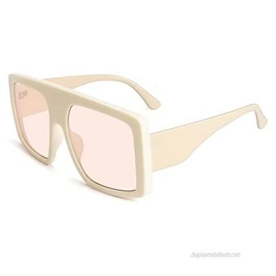STORYCOAST Oversized Square Sunglasses for Women Fashion Shield Flat Top Baddie Shades 100% UV400 Protection