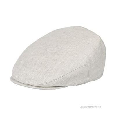 BOTVELA Men Linen Flat Ivy Breathable Summer Newsboy Hat