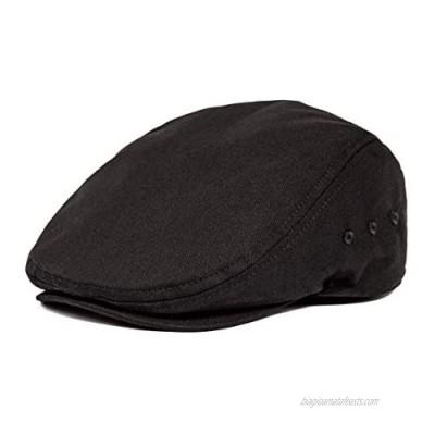 JANGOUL Men Ivy Cap Cotton Twill Newsboy Flat Cap