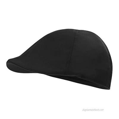 JANGOUL Men's Cotton Twill Flat Cap Ivy Gatsby Newsboy Hunting Hats