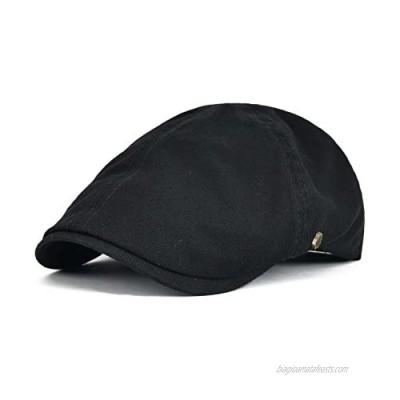 VOBOOM Cotton Flat Cap Cabbie Hat Gatsby Ivy Cap Irish Hunting Hat Newsboy